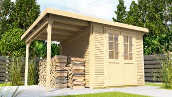 maison d'été planeo - maison système Pulti Softline avec toit latéral 1,5m