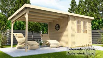 maison d'été planeo - maison système Pulti Softline avec toit latéral 3m