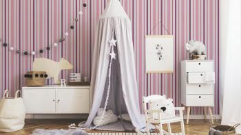 Papier peint Garçons & Filles 6 A.S. Création modern children wallpaper pink purple white 319