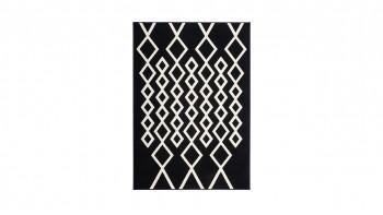 tapis planeo - Lina 400 noir / ivoire