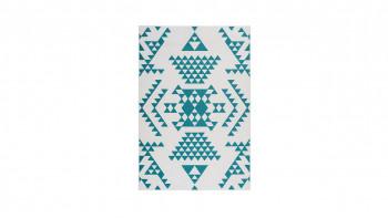 tapis planeo - Esperanto 625 blanc / turquoise