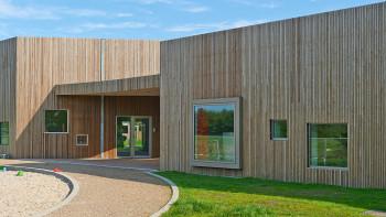 planeo façade en bois bande losange thermo-ash PaC 20x52