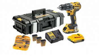 Set de perceuses et tournevis sans fil DeWALT 18V DCK791 - 2 x 2Ah batterie + 117 pcs. accessoires
