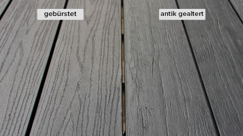 planeo TitanWood - Planche massive gris foncé vieillie/brûlée