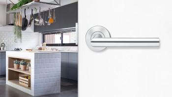 Poignée E300B en acier inoxydable mat - salle de bain avec kliprosettes