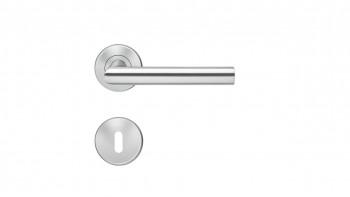 Poignée E300B acier inoxydable mat - barbe simple avec rosette à clip