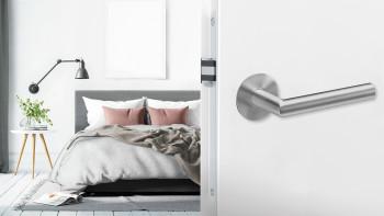 Poignée E900 en acier inoxydable mat - salle de bain avec rosette magnétique