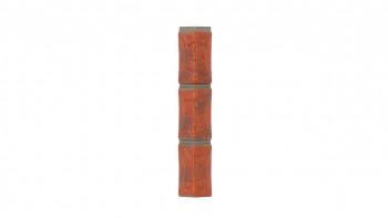 Angle d'apparence en pierre de carrière de Zierer pour BS1 - 54 x 54 x 345 mm rouge-flamé en GRP