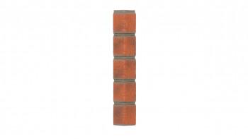 Coin optique Zierer clinker - 50 x 50 x 345 mm rouge flambé en PRV