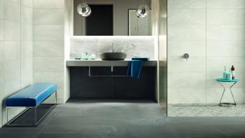 planeo DIYTile carreau de sol en marbre - 45 x 90 x 12 mm anthracite PT