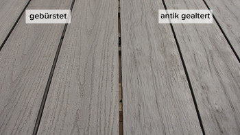 planeo TitanWood - planche massive gris clair vieillie/brûlée