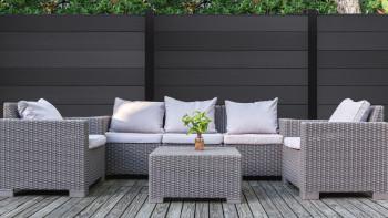planeo XL - carré de clôture de jardin anthracite