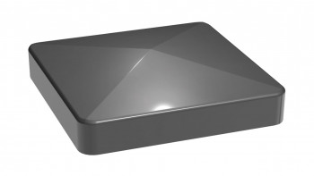 planeo Alumino post cap gris anthracite 9x9cm