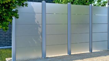 planeo Ambiente - écran d'intimité en verre à rayures verticales 90 x 180 cm