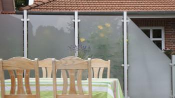 planeo Ambiente - écran d'intimité en verre satiné vertical 120 x 180 cm