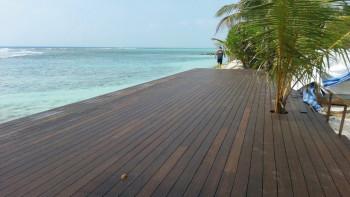 terrasse en bois planeo - bambou foncé - lisse/rainuré