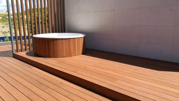 terrasse en bois planeo - bambou léger - lisse/rainuré