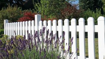 planeo Basic - clôture de jardin avant 180 x 90 cm - parcours droit blanc