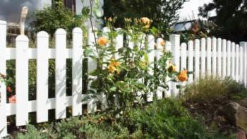 planeo Basic - clôture de jardin avant 180 x 90 / 101 cm - arche supérieure blanche