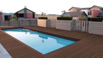 planeo TitanShield WPC plancher brun partiellement solide