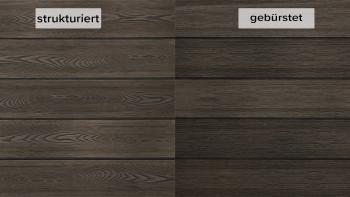 planeo WPC planche de terrasse en bois massif thermo-caoutchouc - structuré/brossé