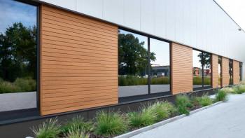 planeo Fassado - WPC bande losange revêtement de façade chêne brun