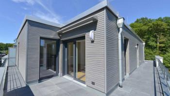 planeo Fassado - Revêtement de façade en losange WPC gris graphite