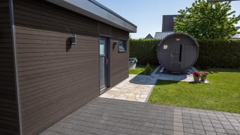 revêtement de façade planeo - profil de façade COEX 5,4m noyer brossé
