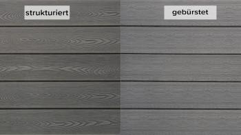 planeo WPC planche de terrasse Solid PRIME gris clair - texturé/brossé