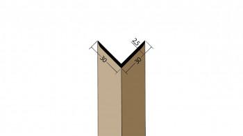 planeo Protect Winkelprofil - WP 30x30x2500mm braun