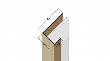 planeo Protect Abschlussprofil - AP 27mm Aufnahme 2500mm Länge braun
