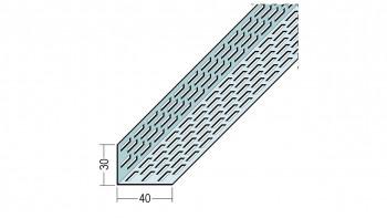 planeo Protect Lüftungsprofil - LÜW 30x40x2500mm Aluminium-natur