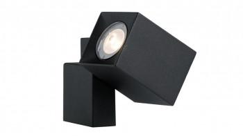 planeo Garden Lighting 12V - Spot LED Applique Quartz Noir Alu - 2W 120Lumen