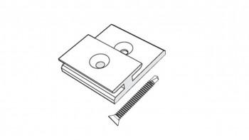 Trespa Universalclip mit Schrauben