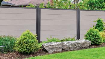 planeo Viento - carré de clôture de jardin Bi-Color avec cadre en aluminium anthracite