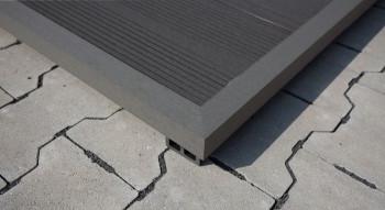 planeo WPC bande d'angle gris foncé pour planches de terrasse - 2,2m