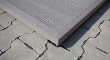 planeo WPC angle strip gris pour planches de terrasse - 2,2m