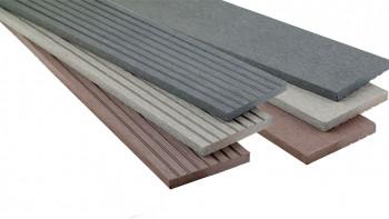 planeo WPC bande de couverture brun foncé pour les planches de terrasse - 2,2m