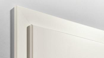 Cadre standard à bord arrondi laqué blanc 9010 - 1985mm